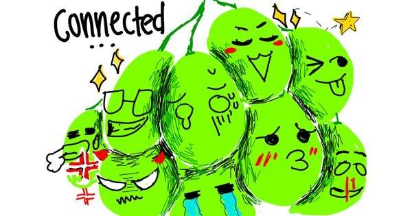 Grapes drawing by NYA