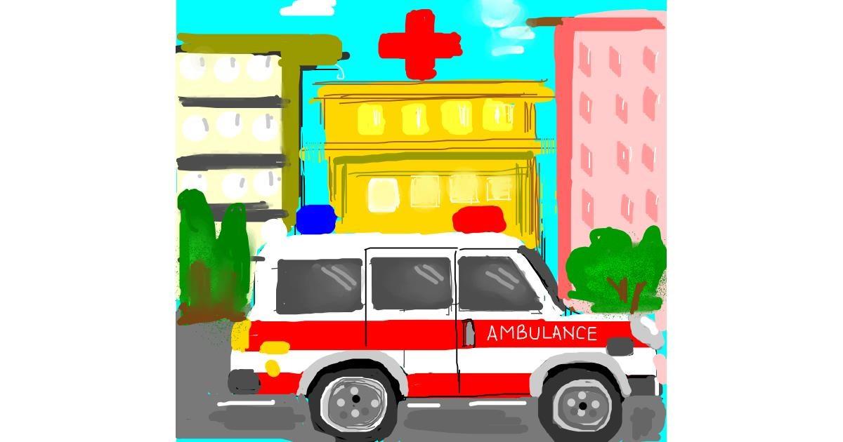 Ambulance drawing by Cindy
