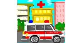 Ambulance drawing by Cindy