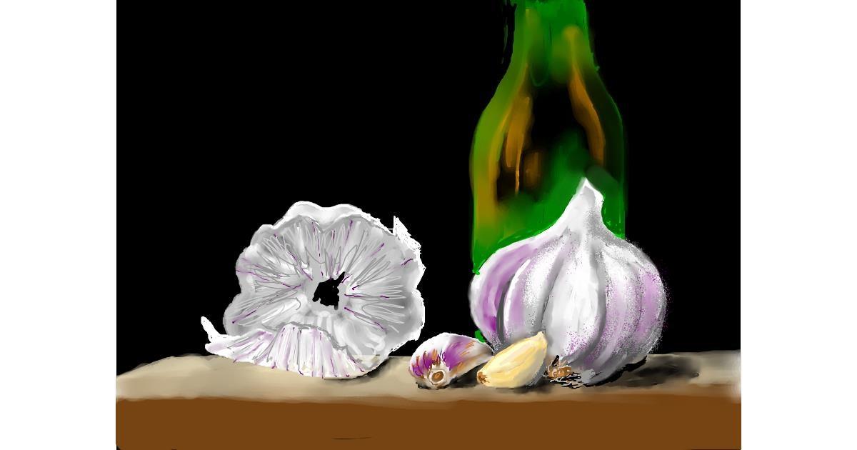 Garlic drawing by SAM 🙄