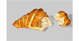 Croissant drawing by GJP
