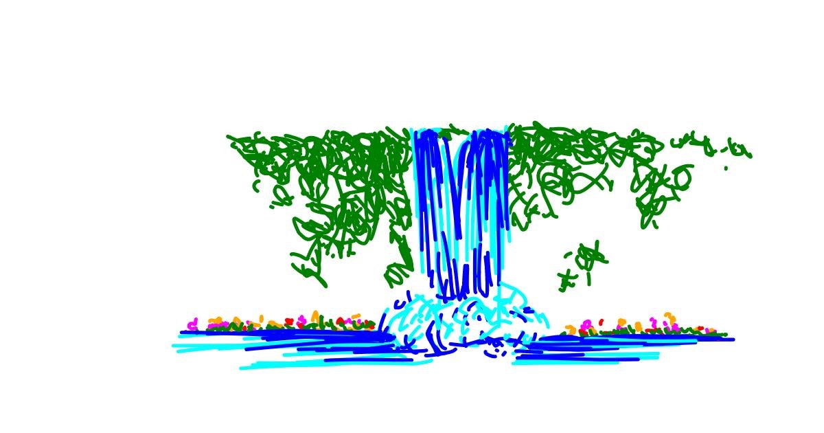 Waterfall drawing by abc