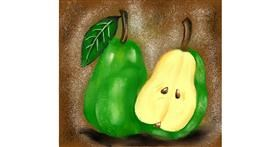 Pear drawing by Cindy