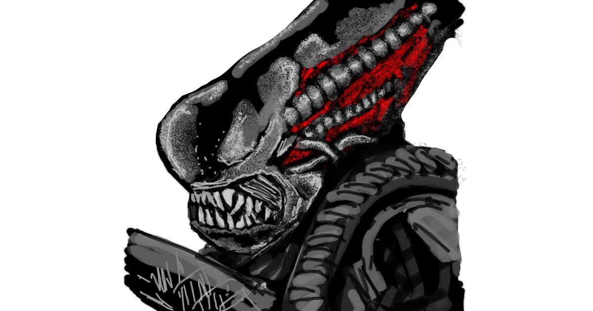 Alien drawing by Dettale
