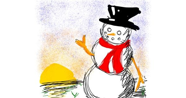 Snowman drawing by Rebecca