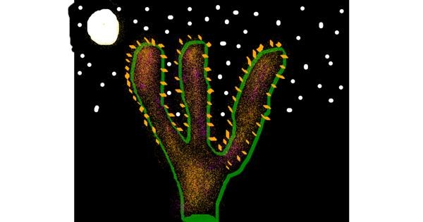 Cactus drawing by DOLPHINE