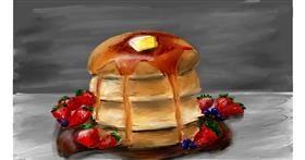 Pancakes drawing by Soaring Sunshine