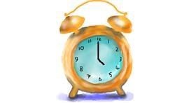 Alarm clock drawing by Sirak Fish