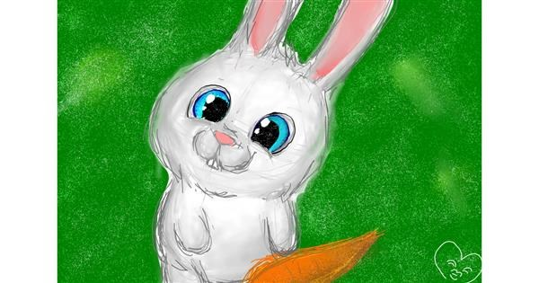 Bunny drawing by Milk
