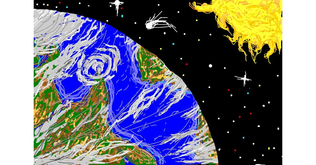 Earth drawing by Josegreas