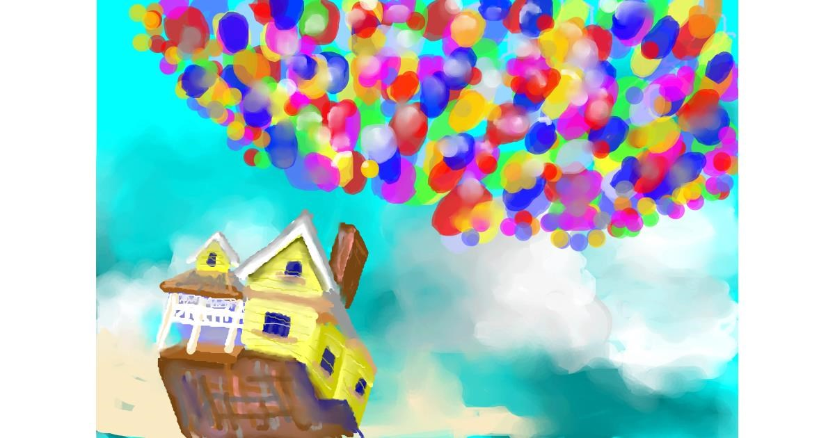 Drawing of Balloon by Abbie