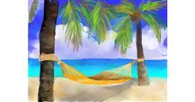 Beach drawing by Abbie