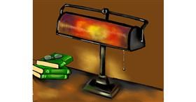 Lamp drawing by Cec