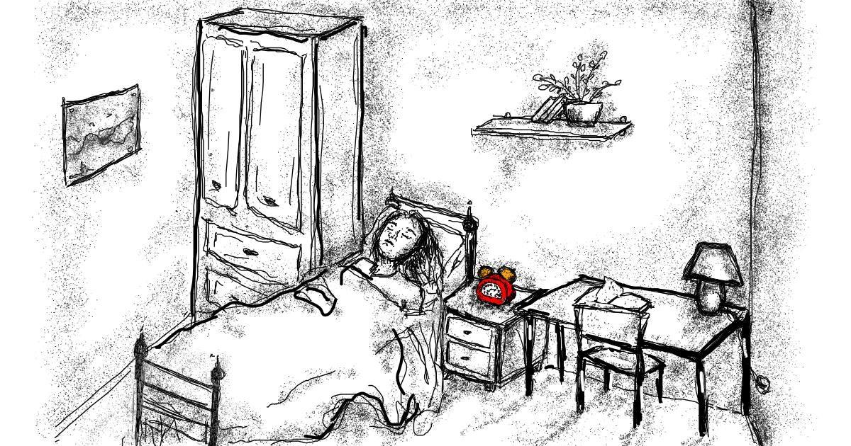 Alarm clock drawing by Babyone