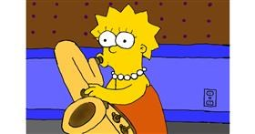 Drawing of Lisa Simpson by Wizard