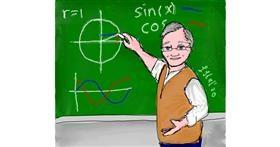 Drawing of Teacher by Iris