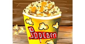 Drawing of Popcorn by Bro 2.0😎