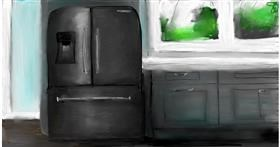 Drawing of Refrigerator by Soaring Sunshine