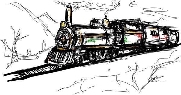 Train drawing by ShallowNeedle