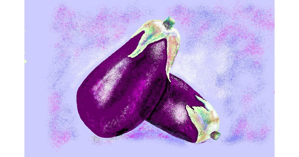 Eggplant drawing by GJP