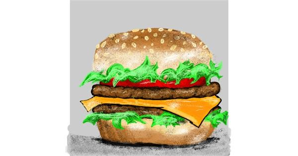 Burger drawing by SIREN