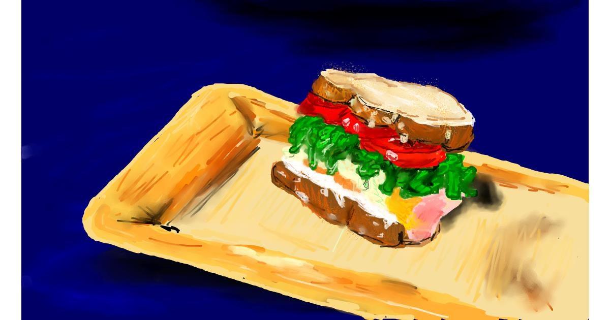 Drawing of Sandwich by Effulgent Emerald