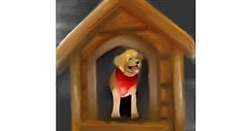 Dog house drawing by Aastha