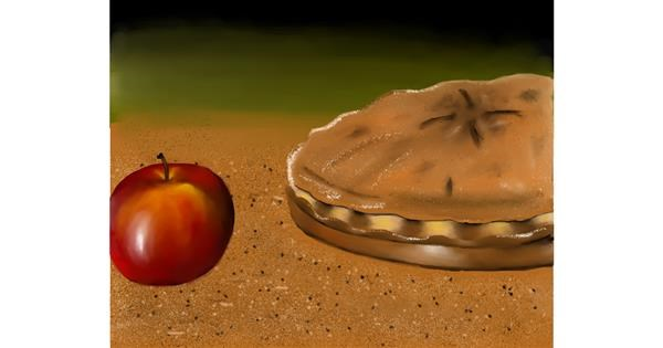 Pie drawing by Mitzi