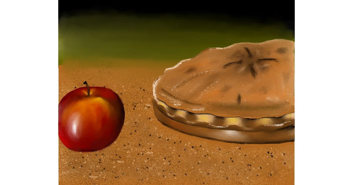 Drawing of Pie by Mitzi