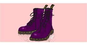 Drawing of Boots by Sara