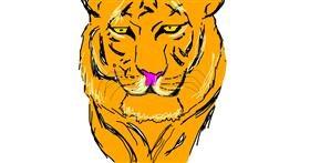 Tiger drawing by jel sad ok