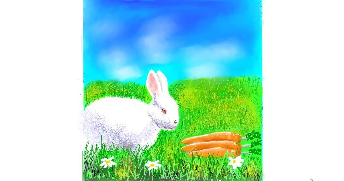 Carrot drawing by GJP
