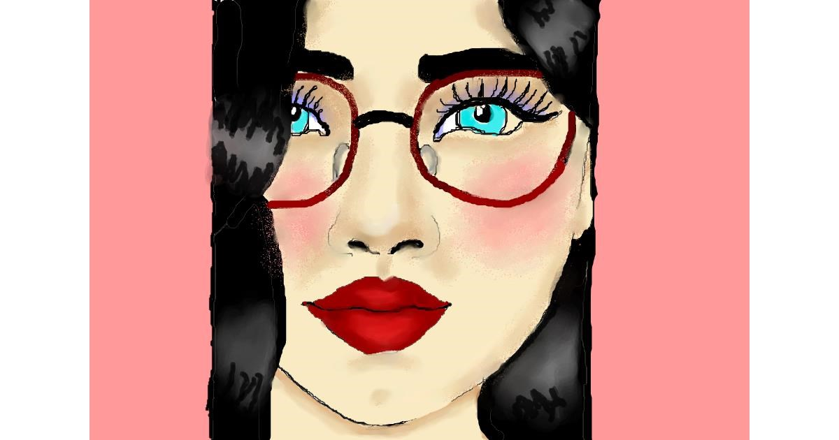 Drawing of Glasses by Debidolittle