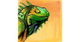 Lizard drawing by Bro