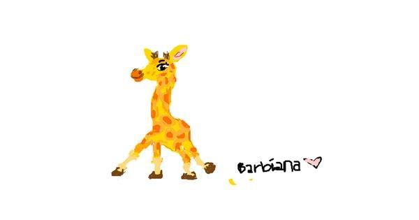 Giraffe drawing by barbiana
