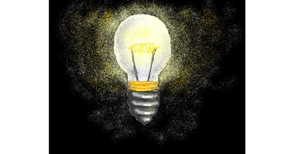 Light bulb drawing by Michelle
