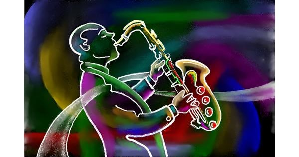 Saxophone drawing by GJP