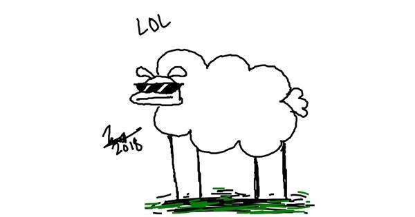 Sheep drawing by Xbruhitz_mehX