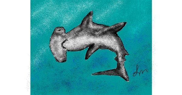 Shark drawing by Nonuvyrbiznis