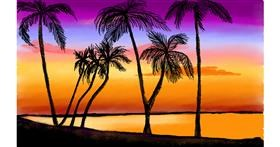 Drawing of Palm tree by Tim