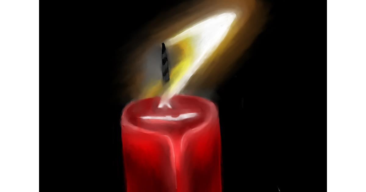 Candle drawing by Jan