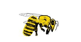 Bee drawing by Angel