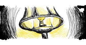 Lamp drawing by Danielle