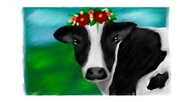 Drawing of Cow by Sara