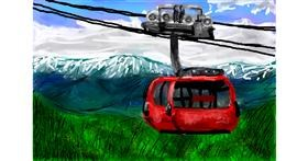 Cable car drawing by Soaring Sunshine
