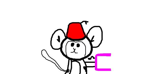 Monkey drawing by Anonymous