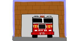Firetruck drawing by MaRi