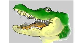 Alligator drawing by Debidolittle