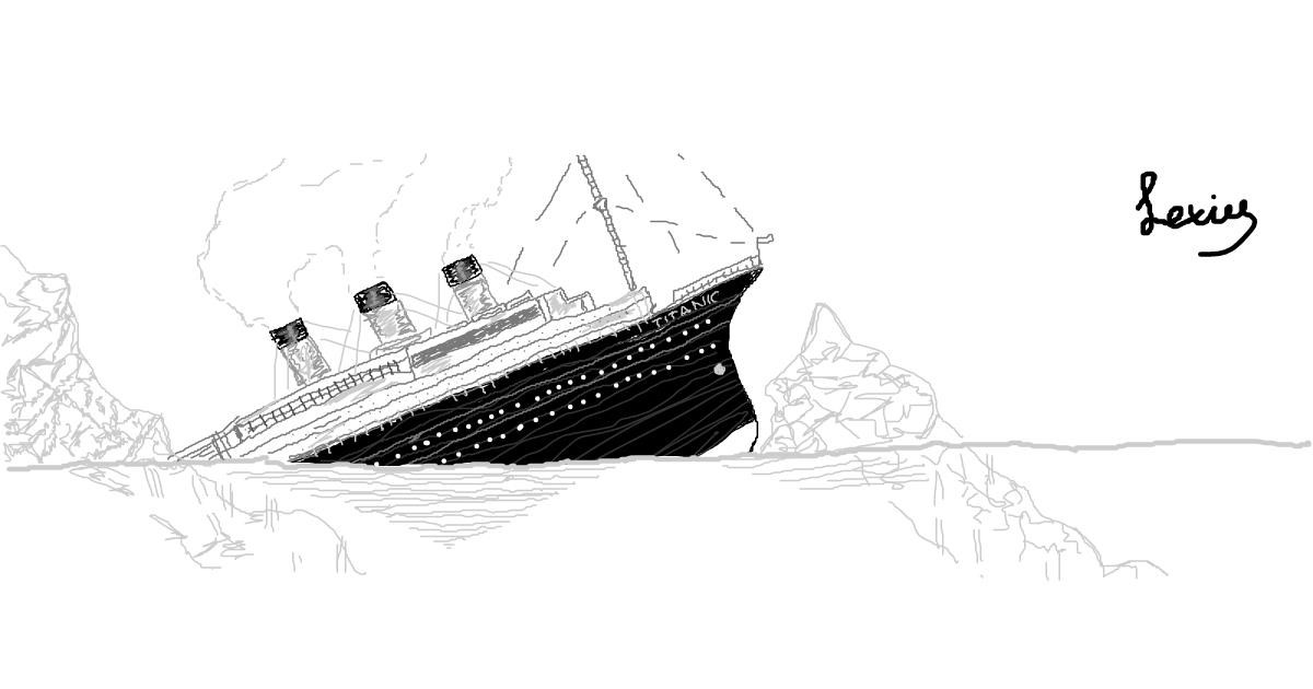 Boat drawing by LEX