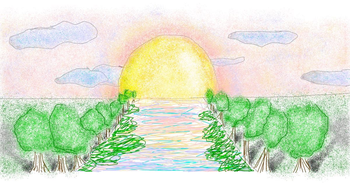 River Drawing By Coconut Draw And Guess Gallery